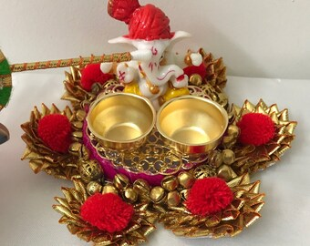 Ganesha Haldi kumkum holder, Diwali puja, Festival Pooja, Diwali gift, Wedding gift, Return gift,