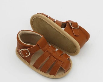 BABY SHOES sizes 3-10/ Baby shoes leather sandal (tan)/ Toddler shoes/ Girls shoes/ Leather baby shoes/ T bar shoes/ Baby girl/ Baby boy