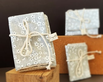 Coated cotton soap pouch, zero waste