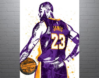 8cb1465c8 LeBron James Los Angele Lakers Purple Poster