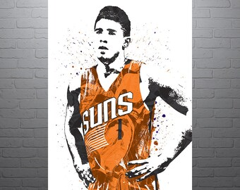 c6401a48 Devin Booker Phoenix Suns Poster, Sports Art Print, Basketball Poster, Kids  Decor, Man Cave