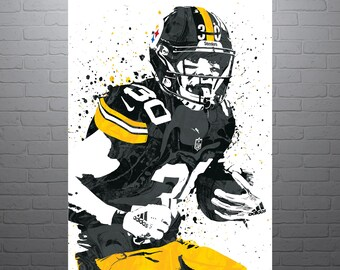 7a0f1bdb7f6 James Conner Pittsburgh Steelers Poster, Sports Art Print, Basketball Poster,  Kids Decor, Man Cave