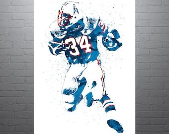Earl Campbell Houston Oilers Poster 2ec4989b1