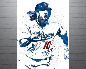 Justin Turner Los Angeles Dodgers Poster efbfbd31b36