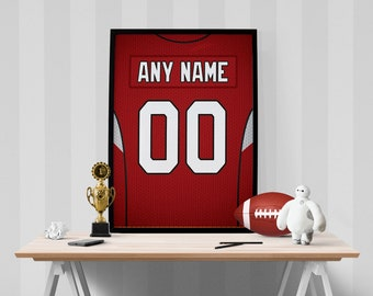 2c1cc50648b6 Arizona Cardinals Jersey Poster - Print Personalized Select Any Name   Any  Number