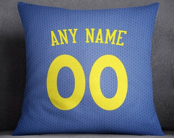 7692c3c36 Golden State Warriors Pillow Front And Back 18 X 18 - Print Personalized  Select Any Name   Any Number