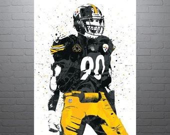 c19776ef9 TJ Watt Pittsburgh Steelers Poster