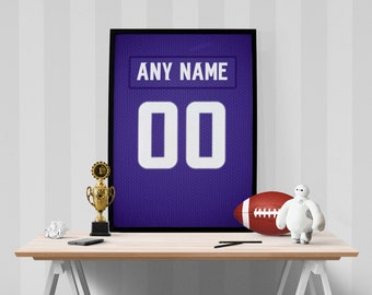 c7fbdf0f2 Minnesota Vikings Jersey Poster - Print Personalized Select Any Name   Any  Number