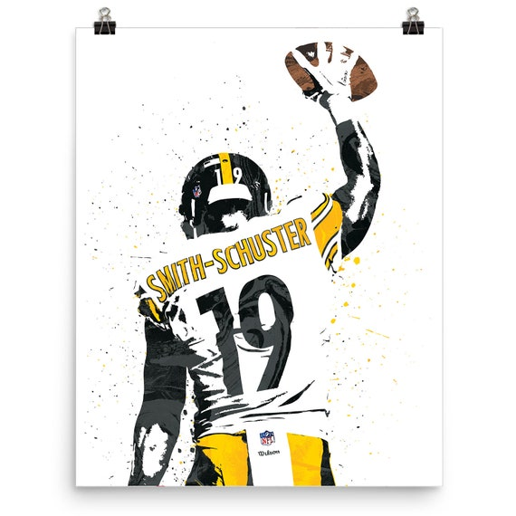 cheap for discount 1c12e 79e7b JuJu Smith-Schuster Pittsburgh Steelers Poster, Sports Art Print,  Basketball Poster, Kids Decor, Man Cave