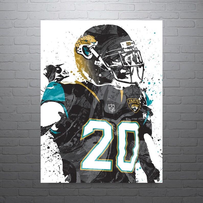 huge selection of 4d6a5 19c6a Jalen Ramsey Jacksonville Jaguars Poster, Sports Art Print, Basketball  Poster, Kids Decor, Man Cave