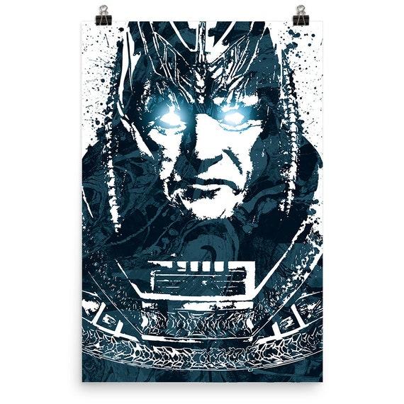 X-Men Apocalypse Marvel Movie Poster, Art Print, Kids Decor, Man Cave