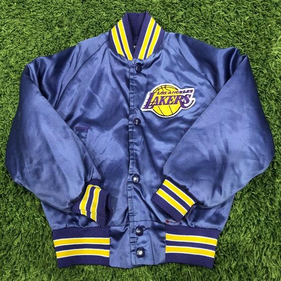 Rare Vintage Chalkline Los Angeles Lakers Kids Size 6 8 Satin Etsy