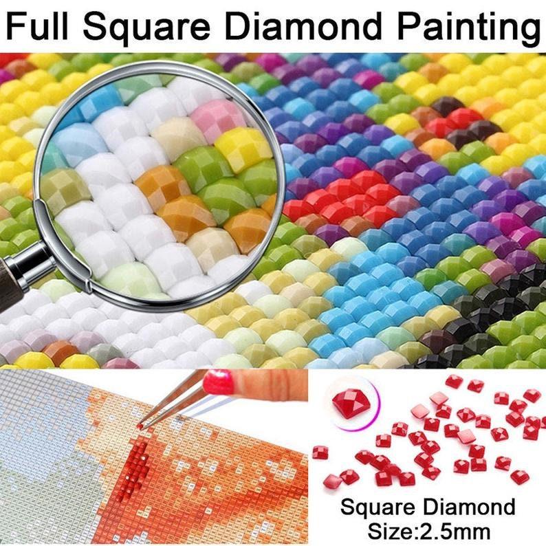 Full SquareRound Drill 5D DIY Diamond Painting Cartoon Magic old man Embroidery Needlework Cross Stitch Rhinestone Picture Home Decor