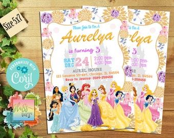 Editable Disney Princess Invitation Birthday Party PDF And JPEG Instant 4