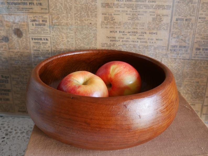 Fruit Bowl Lovely Vintage Handcrafted Teak Bowl Boho decor Salad Bowl Snack Bowl.