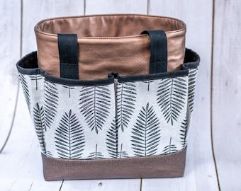 Handmade bag / shopper with slots