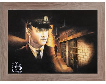 Original handmade print and design with colored pencils by Tom Hanks in The Green Mile