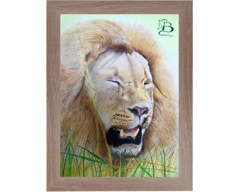 """Original handmade design and printing with colored pencils from """"The Rest of the King"""""""