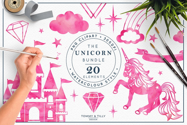 Png Princess Castle Rainbow Kids High Quality Clipart Wreath Birthday Invitation Watercolour Unicorn Collection Hot Pink