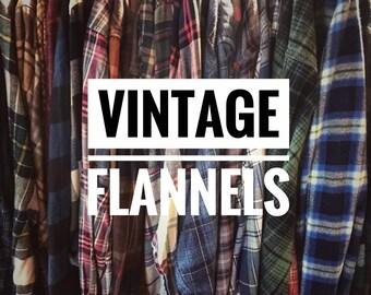 3a26ba1f6 Vintage Flannel Shirts