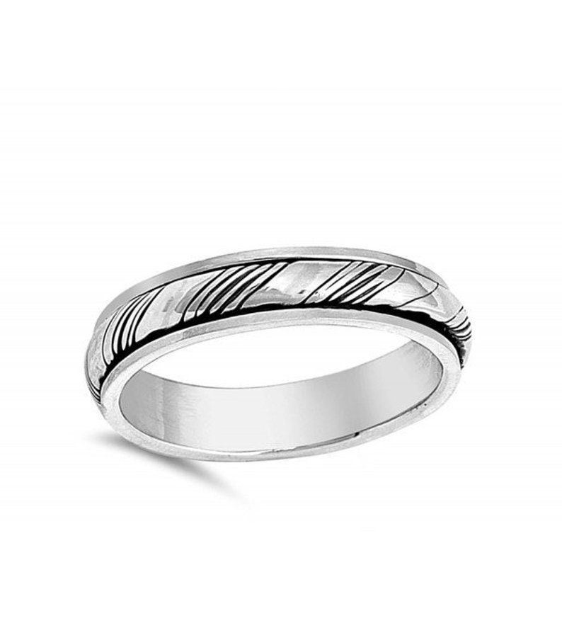 Anxiety Ring Spinning Ring Meditation Ring Thumb Ring Plain Silver Ring Statement Ring Engagement Ring Bohemian Ring Worry Ring