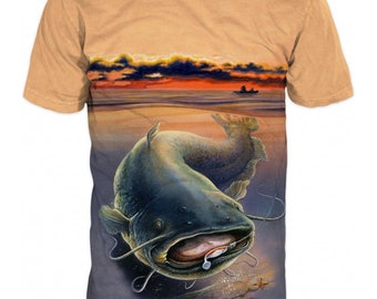 feb05bef7 T-shirt with Print catfish hunter #6614