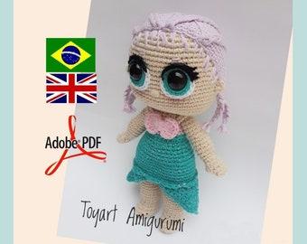 Melani Koo Amigurumi - Melani Halim - LOL doll and outfit-Knitting ... | 270x340