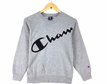 e947237f00dd Rare !! Vintage Champion Sweatshirt Big logo Spellout Pullover Jumper    Streetwear  Hypebeat