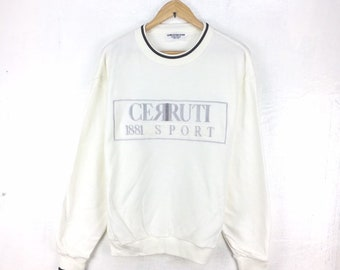 5c07a02bf22 Vintage Cerruti 1881 Sport By Nino Cerruti Sweashirt Big Spellout