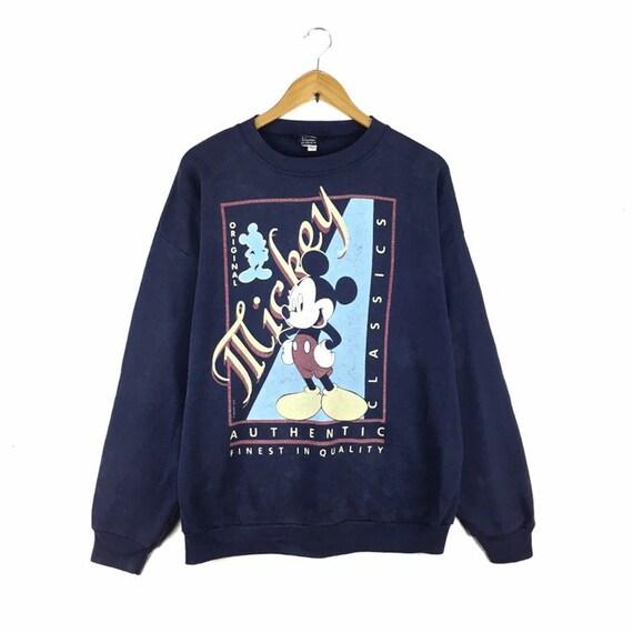 Rare!! Vintage90s Mickey Mouse Sweatshirt Big Prin