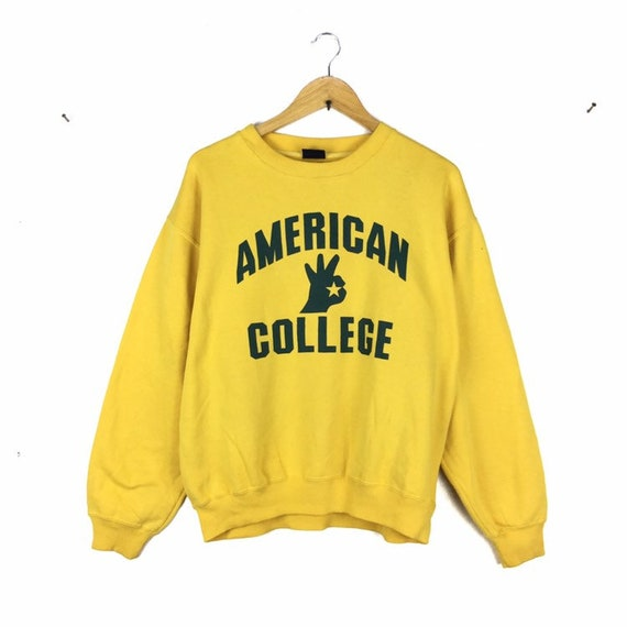 Rare!! Vintage American College Sweatshirt Big Spe