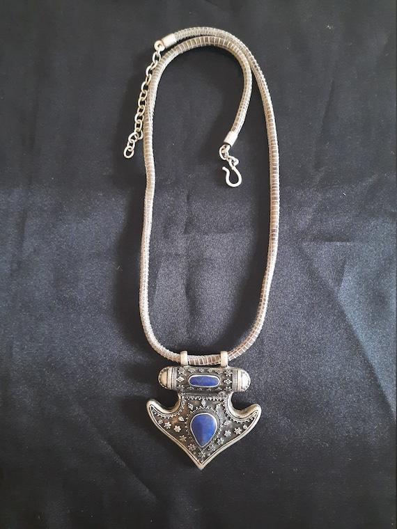 old alpaca pendant necklaces