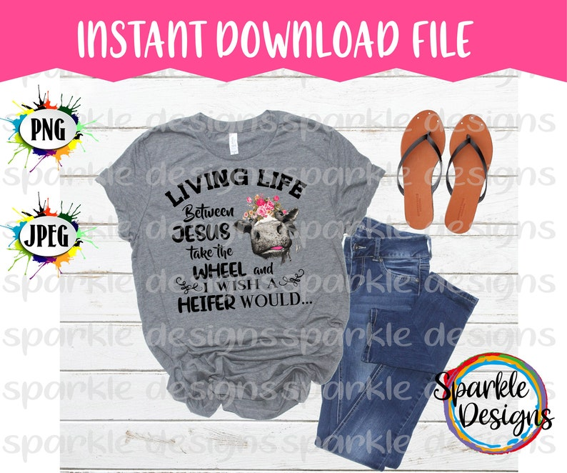 Living Life Cow, Cow with flowers, PNG, JPEG, Adult Humor Shirt, Digital  Clipart, Sublimation Design, Instant Download, Distressed Cow Image