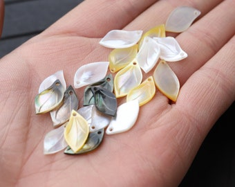 20 Transparent Pink Czech Pressed Glass Curved Petal Beads 13x7mm Leaves