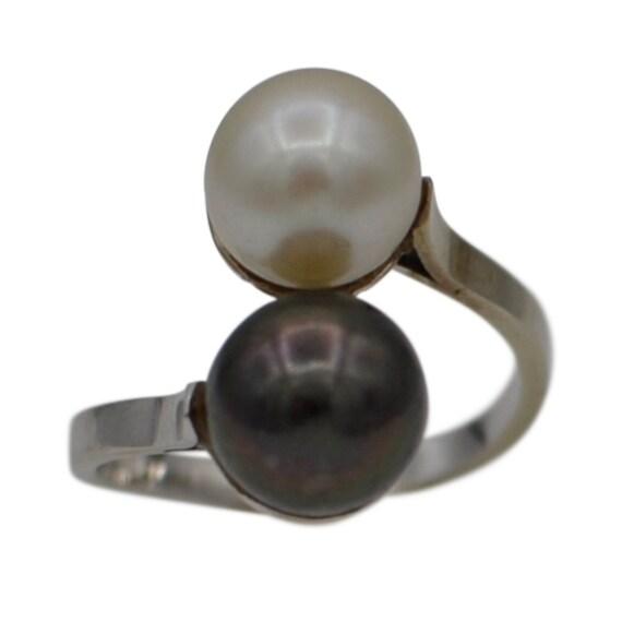 PEARL ENGAGEMENT RING Tahitian pearl ring white pe