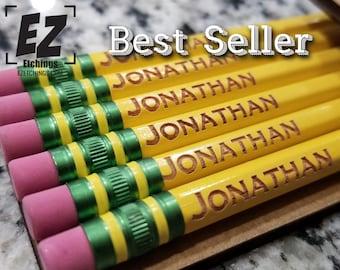 Back To School Supplies 7 styles-Teacher Appreciation,Generic#2, Ticonderoga Regular Name Pencils, Tri-Write, Jumbo, laser etched, engraved
