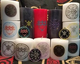 Goetia Demon Sigil Candle // Custom Goetic Evocation Candles