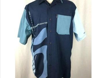 Men/'s Platinum Fubu Weird Harold Black Button Down Shirts