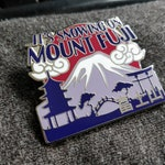 "Game Grumps Inspired ""It's Snowing On Mount Fuji"" Silver Hard Enamel Lapel Pin (+BONUS Mystery Sticker!)"