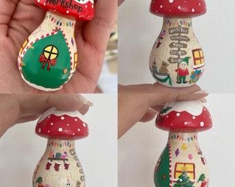 7cm Enchanted Toadstool Fairy House