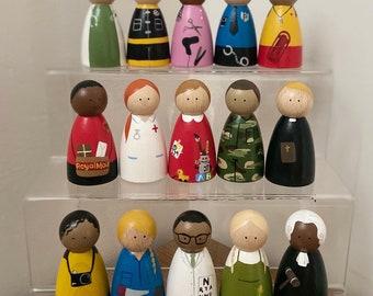 Occupation Educational Peg Dolls / Montessori / Waldorf Wooden Toys