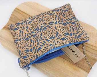 Unique creation pouch in French and artisanal cork and cotton. Cousettes by Audrey