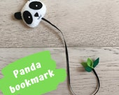 Bookmark, Felt bookmarks, Gift book lover, children bookworm, gift for readers with panda, fox, cactus, cloud, cat