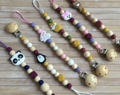 Pinguin, panda, fox, rabbit, lion Silicone Pacifier Clip for baby, Dummy clip with animals, Pacifier chain, Newborn gift, MAM pacifier