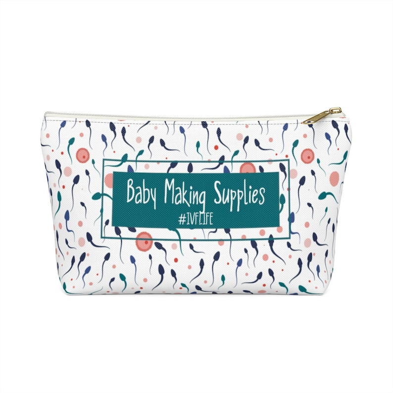 IVF Gift Medicine Bag IVF bag Meds bag Infertility gift White