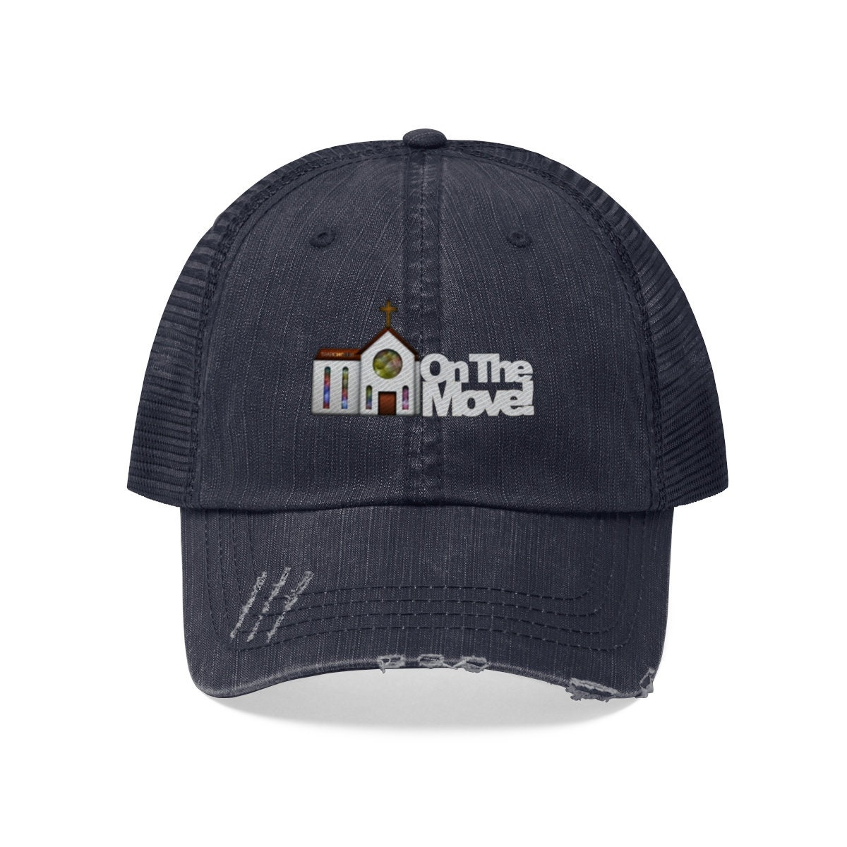 Church On The Move White letter Embroidery Cap e958df40cdae