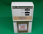 Radio c1968 AMERICAN AMOCO Gold Gas Pump Radio Lead Free - Works AM Transistor Station Advertising Vintage Standard Oil