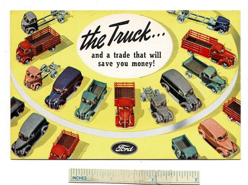 1940 FORD TRUCKS Dealer Postcard Houston Motor Co MO Missouri Car Advertising Motor Vehicle