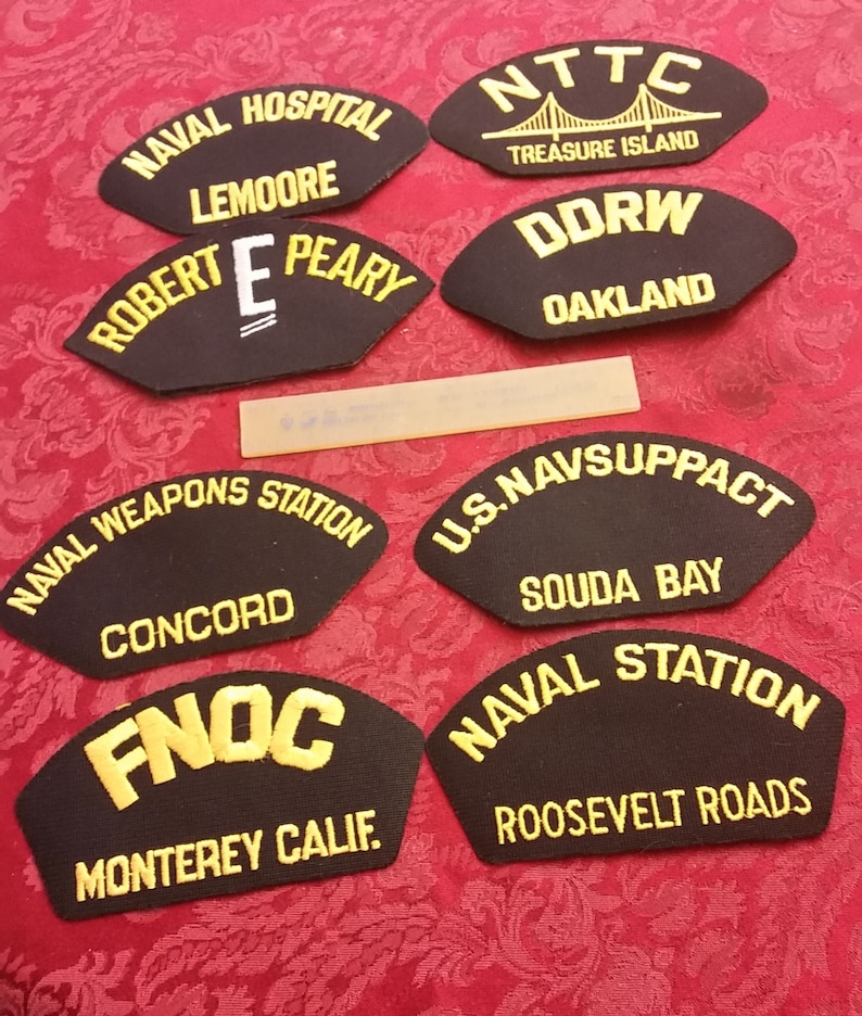 2 NEW Orig Lot of 33 Diff US Navy Ship Airwing etc Hat Patches USN Military Patch No