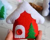 Christmas village house ornaments, Christmas tree decorations 2021, Putz house